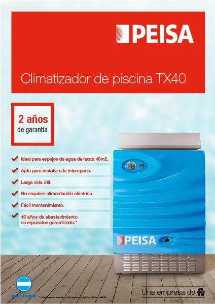 Climatizador de piscina TX40