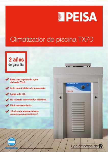 Climatizador de piscina TX70
