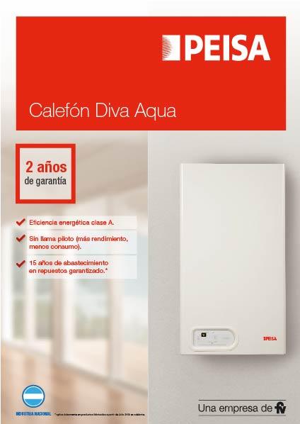 Calefón Diva Aqua F