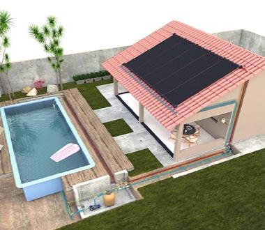 Sistema de climatización solar para piscina