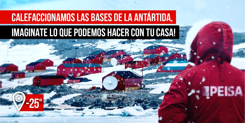 Calefaccionamos las bases de la antártida, imaginate lo que podemos hacer en tu casa!